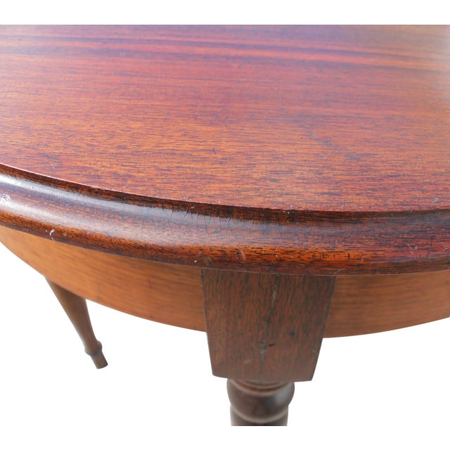 Demi-Lune Mahogany Console Table For Sale - Image 11 of 12