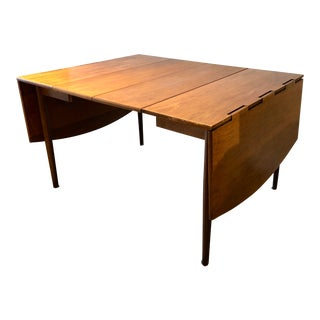 Mid-Century Modern Drexel Parallel Hinged Dining Table For Sale