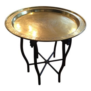 Vintage Brass Folding Tray Table