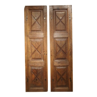 1700s Doors From the Piedmont Region of Italy - a Pair For Sale