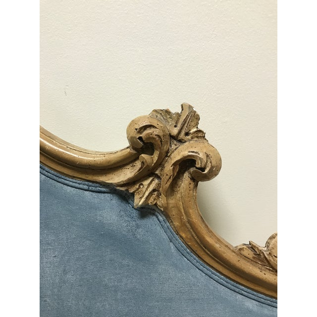 Rococo Hollywood Regency Rococo Carved Pine Queen Size Headboard For Sale - Image 3 of 11