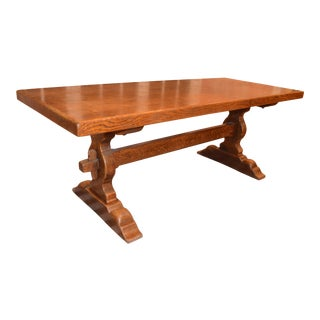 French Country Trestle Farm Table For Sale