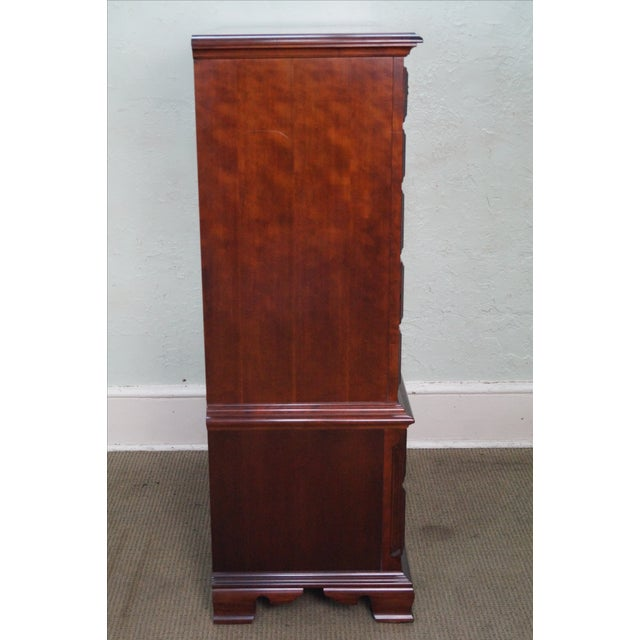 Thomasville Cherry Chippendale Tall Chest on Chest - Image 3 of 10