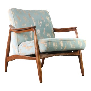 Mid Century Modern Lounge Chair By Lawrence Peabody for Nemschoff in Original Upholstery For Sale