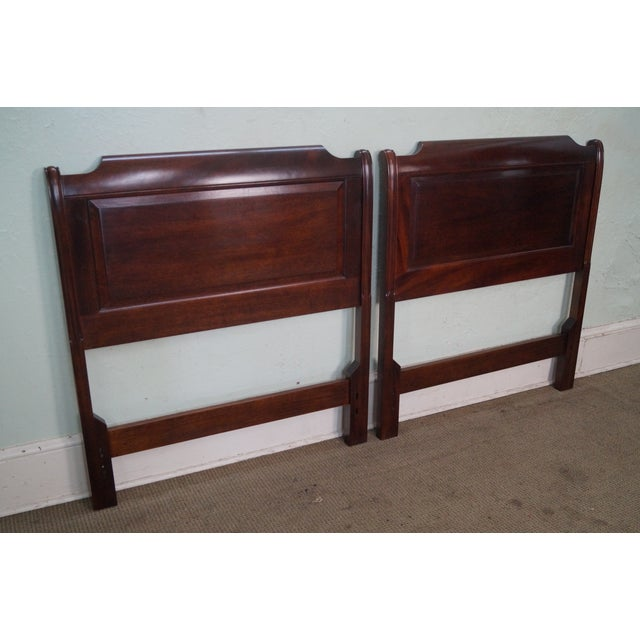 Stickley Solid Mahogany Twin Size Headboards - A Pair - Image 3 of 9