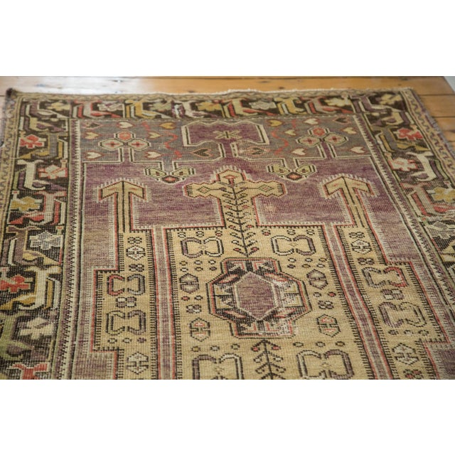 "Vintage Distressed Oushak Runner - 3'8"" X 6'10"" - Image 6 of 10"