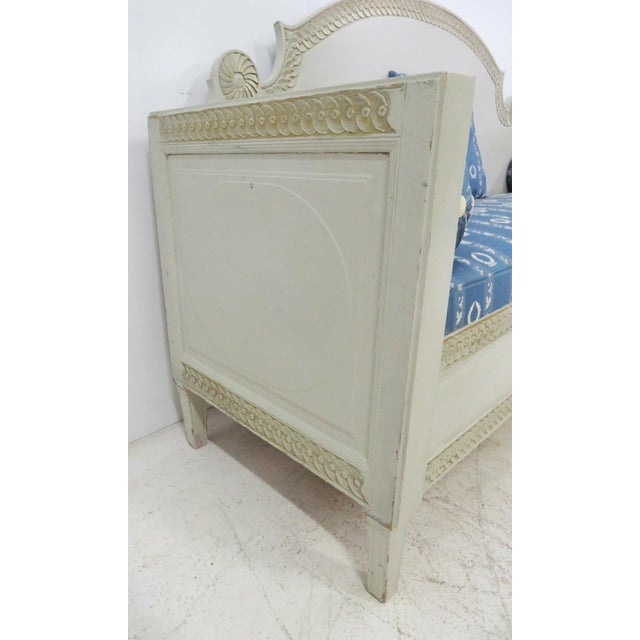 Gold Shabby Chic Swedish Gray Carved Sofa For Sale - Image 7 of 10