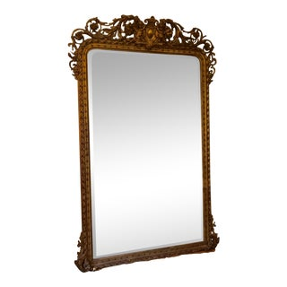 Vintage Floor Length Giltwood Mirror For Sale