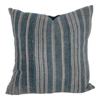 Vertical Striped Vintage Linen Pillows For Sale