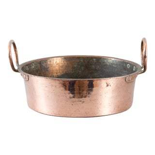 Antique French Hammered Copper Pot For Sale