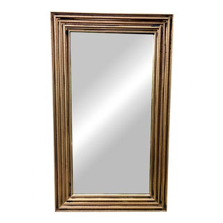 Gilt Wood and Black Paint Decorator Mirror For Sale