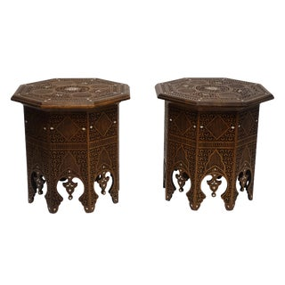 Moorish Style Tabouret Side Tables - A Pair