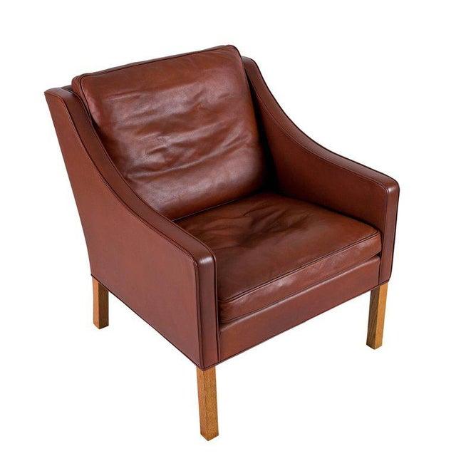 Børge Mogensen Model #2207 Leather Lounge Chair - Image 4 of 10