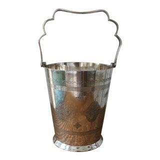 Moorish Style Silver Ice Bucket For Sale