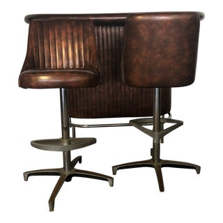 1960s Vintage Chromcraft Barstools- A Pair For Sale