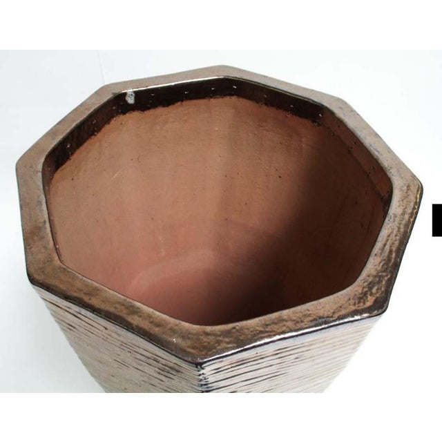 """Architectural Indoor Outdoor Oversize Planter Finished in Bronze 36"""" - Image 6 of 6"""