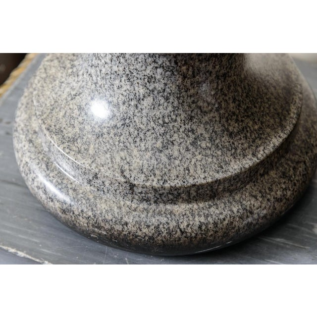 Early 20th Century Granite Gray Urn/Finial For Sale - Image 5 of 6