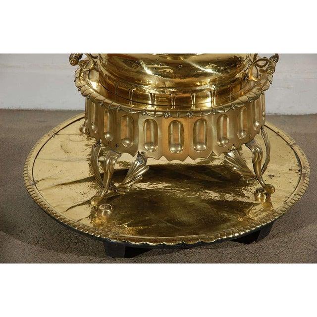Middle Eastern Polished Brass Incense Burner For Sale - Image 4 of 10