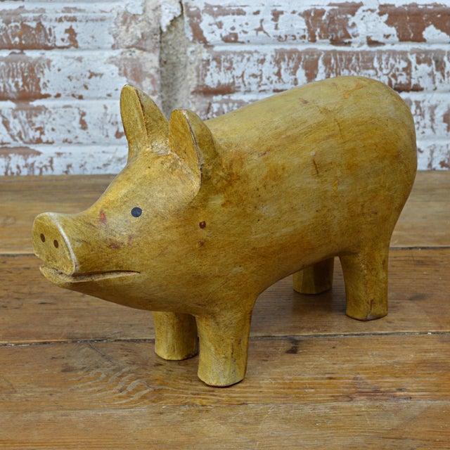 American folk art pig carving chairish