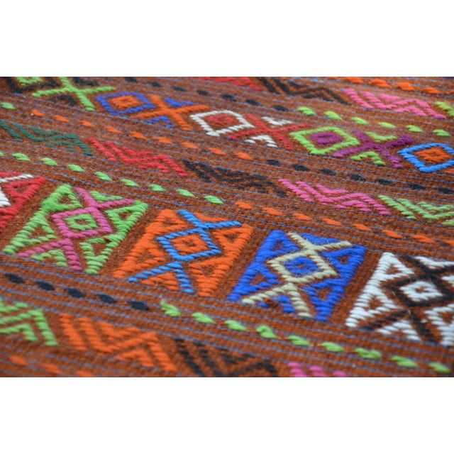 Peruvian Style Patterned Rug - 1′9″ × 4′3″ - Image 5 of 7