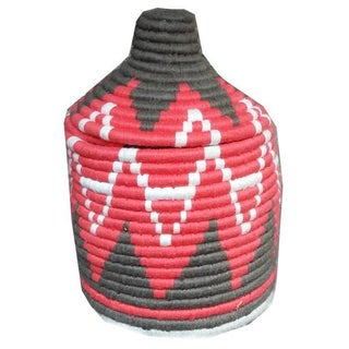 Moroccan Woven Basket For Sale