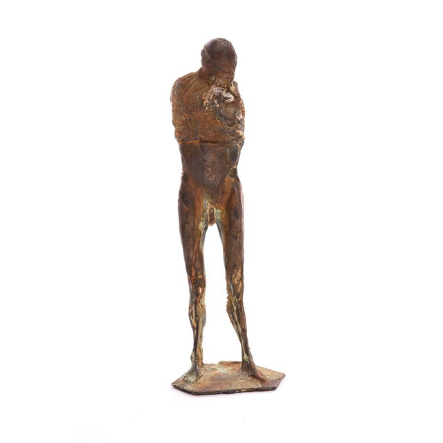 1970s 1970s Figurative Bronze Sculpture by Carl Dahl For Sale - Image 5 of 5
