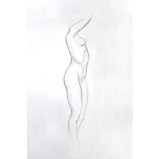 Figure Drawing - Side Plane For Sale
