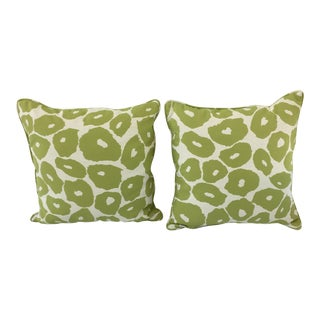 Perennials Fabric Outdoor Pillows - A Pair For Sale