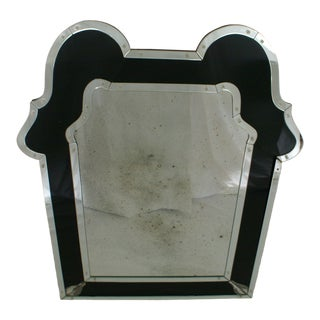 1980s Vintage Venetian/Art Deco Style Mirror For Sale