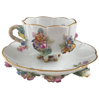 19th Century Victorian Meissen Cup and Saucer Set