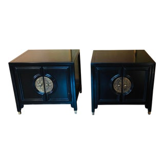 MCM Century Furniture Asian Inspired Nightstands - a Pair For Sale
