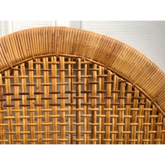 Vintage Mid-Century Arched Cane Bamboo Rattan Buri Twin Headboards - a Pair For Sale In Charleston - Image 6 of 10