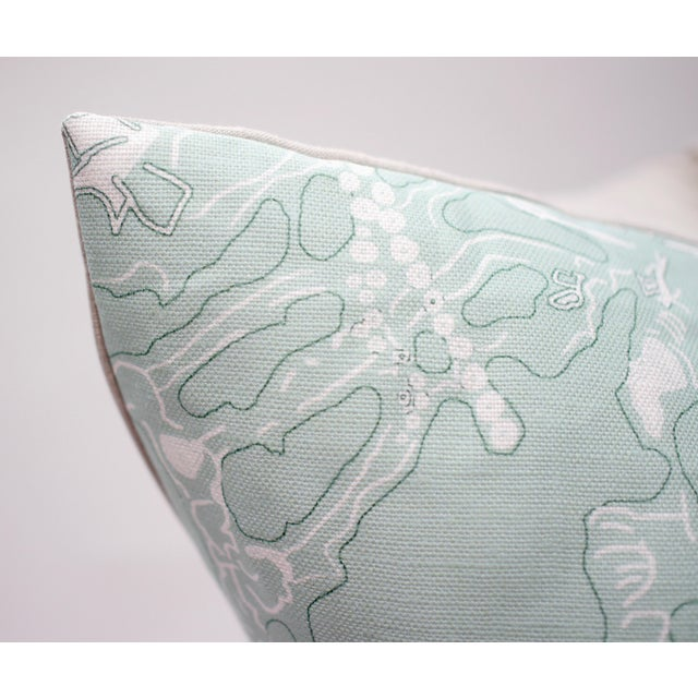 """Contemporary Isobel """"60 Oaks"""" 25"""" Square Belgian Linen Pillow For Sale - Image 3 of 6"""