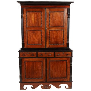19th Centruy British Colonial Satinwood and Ebony Cabinet For Sale