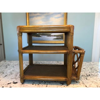 1990s Vintage Bamboo Side Table Preview