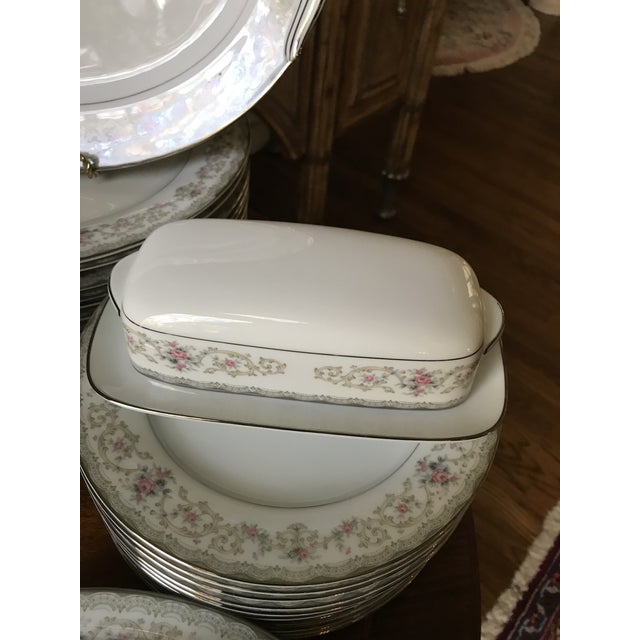 Vintage Noritake # 5807 Edgewood Service for 12 Dinnerware - 94 Pieces,reduced Final For Sale - Image 9 of 12