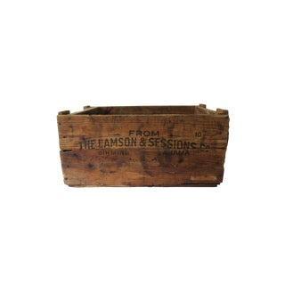 Antique Lamson & Sessions Co. Industrial Wooden Crate