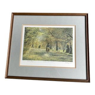 Harold Altman Bridle Path I Mourlot Horses Framed Artist Proof Drawing For Sale
