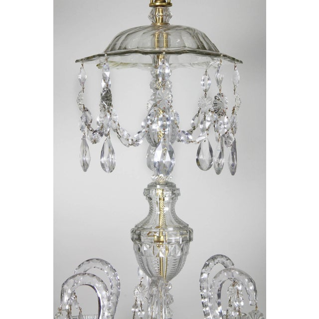 Traditional Anglo-Irish Cut-Glass Chandelier For Sale - Image 3 of 10