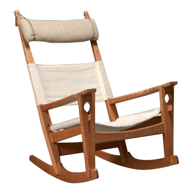 Hans Wegner Keyhole Rocking Chair For Sale