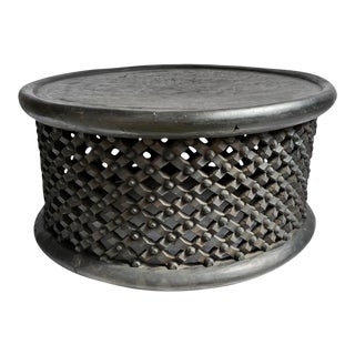 Vintage Large Bamileke Stool / Table For Sale