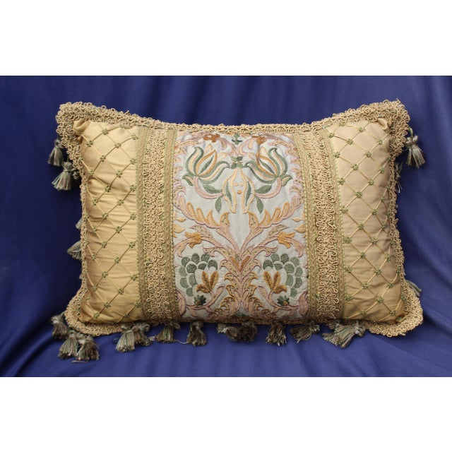 Late 19th Century 19 C. Italian Chair Cushion With Antique Fabric For Sale - Image 5 of 5