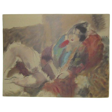 Jules Pascin Antique 'Marionette' Lithograph Print For Sale