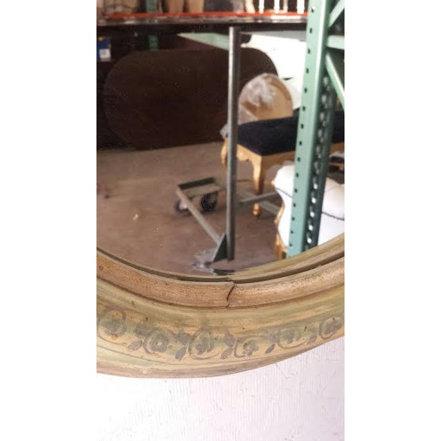 Round Wood Painted Shabby Chic Mirror - Image 4 of 6