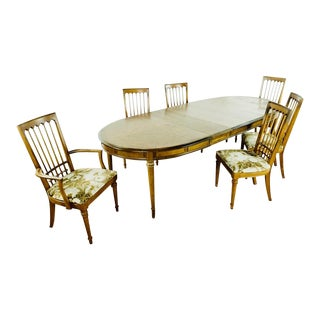 Early 21st Century Wooden Dining Table & Chairs - Set of 7