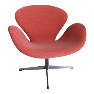 Newly Upholstered Swan Lounge Chair by Arne Jacobsen