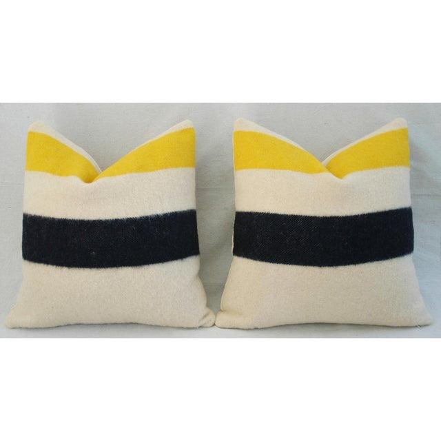 Decorative Pillows Hudson Bay : Custom Hudson s Bay Camp Blanket Pillows - A Pair Chairish