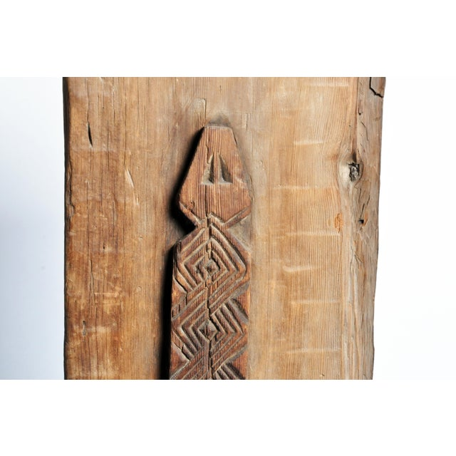 1950s Carved Wooden Door Panel on Stands For Sale - Image 5 of 11