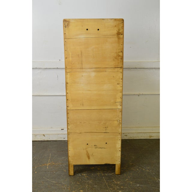 Brown Country Antique 19th Century Poplar & Pine Chimney Cupboard From Lehigh Valley For Sale - Image 8 of 13