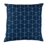 Image of Contemporary Ferrick Mason Criss Cross Outdoor Custom True Blue Pillow For Sale